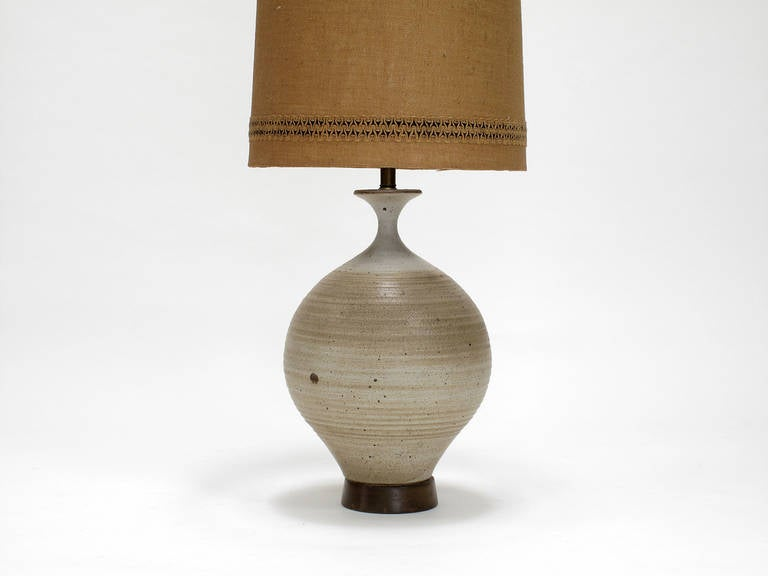Glazed Ceramic Lamp By Bob Kinzie At 1stdibs