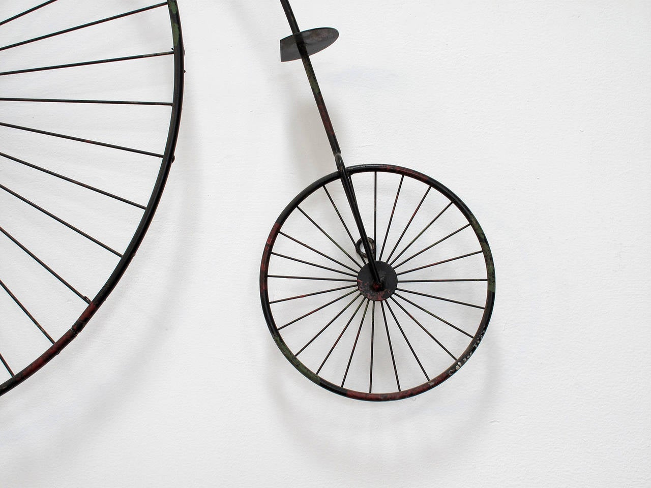 High wheel bicycle wall sculpture by curtis jere image 5 for Bicycle wheel wall art