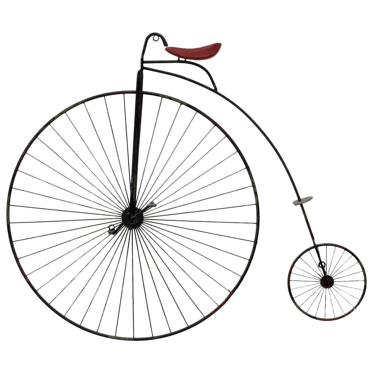 High wheel bicycle wall sculpture by curtis jere at 1stdibs for Bicycle wheel wall art