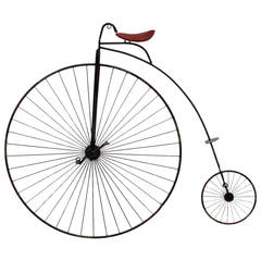 High Wheel Bicycle Wall Sculpture by Curtis Jere