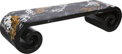Asian Scroll Coffee Table With Custom Graffiti