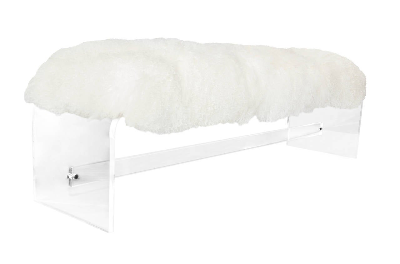 1970s Lucite Waterfall Bench At 1stdibs