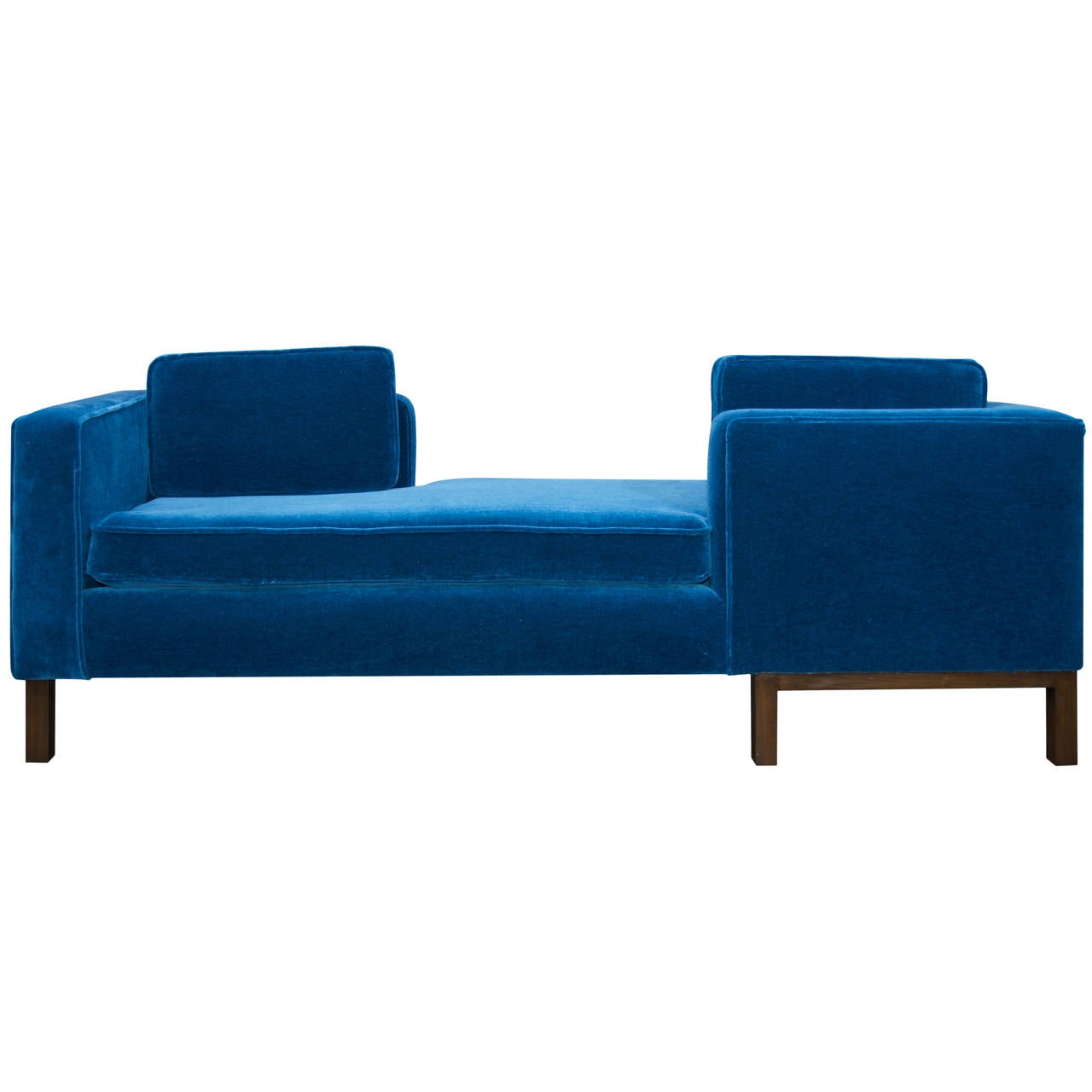 1970s tete a tete sofa attributed to harvey probber at 1stdibs. Black Bedroom Furniture Sets. Home Design Ideas