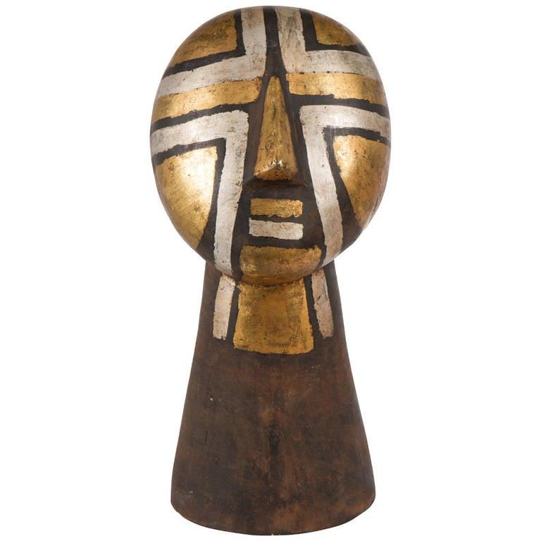 Vintage African Bronze Head