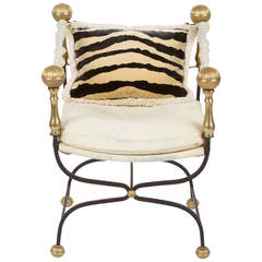 Italian Brass Dante Chair