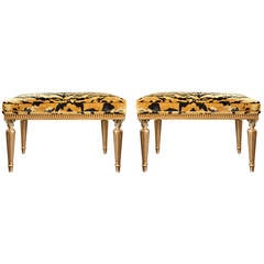 Pair of Neoclassic Benches