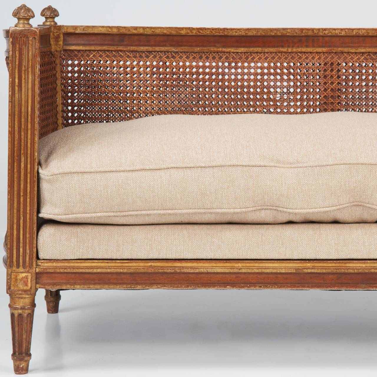 French Louis Xvi Style Antique Giltwood Settee Canape Loveseat C 1890 1910 At 1stdibs
