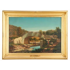 Henry W. Waugh (American, 19th Century) Antique Landscape Painting, Rome