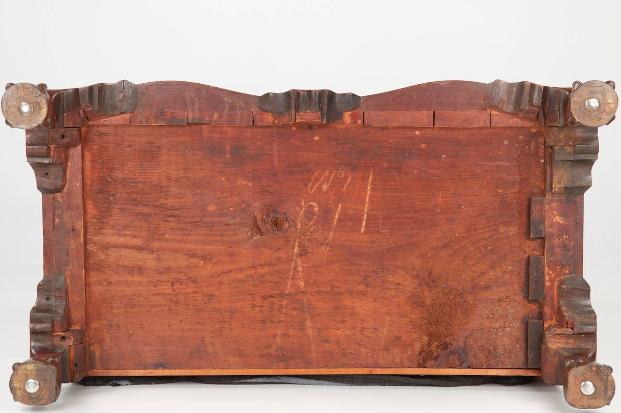 American Chippendale Oxbow Desk On Ball And Claw Feet Boston C 1760 For