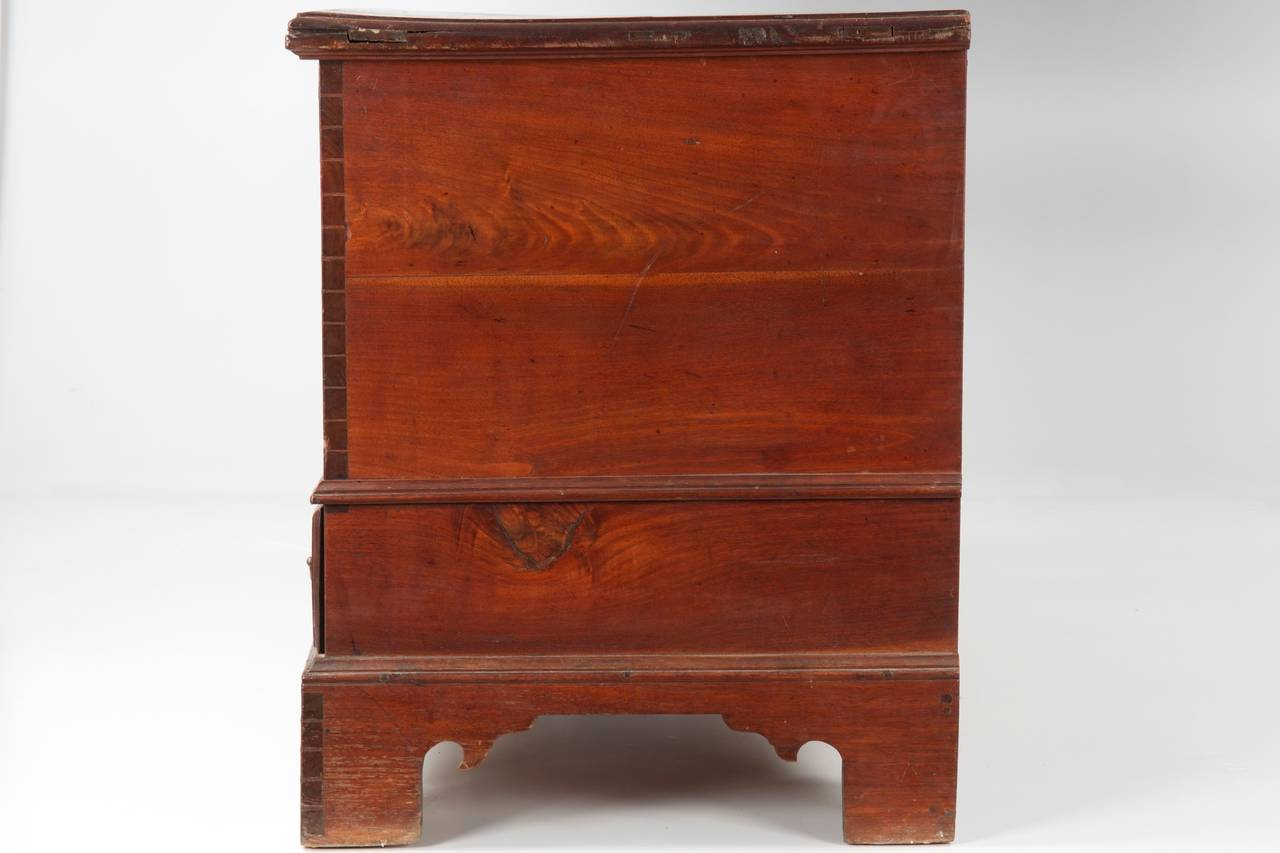 Brass American Chippendale Antique Blanket Chest of Drawers, Pennsylvania, circa 1780 For Sale