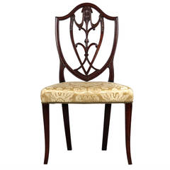 American Federal Carved Mahogany Side Chair, New York, circa 1790