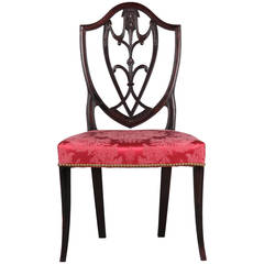 Rare American Federal Mahogany Antique Side Chair, New York, 1790