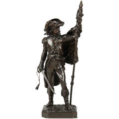 Armand LeVeel French Bronze Militarism Sculpture by Susse Freres circa 1875