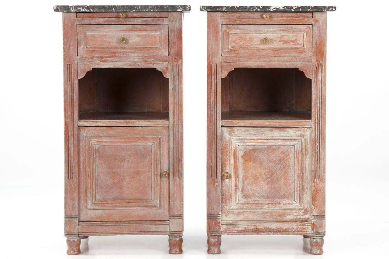 Pair of 19th century painted antique cabinets in the for 19th century kitchen cabinets
