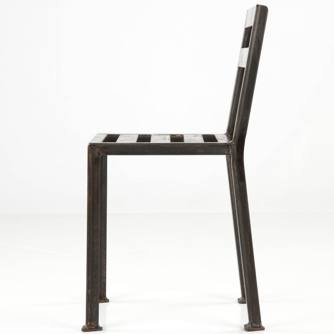 Modern industrial furniture purely industrial modern - French Industrial Style Modern Welded And Patinated Side