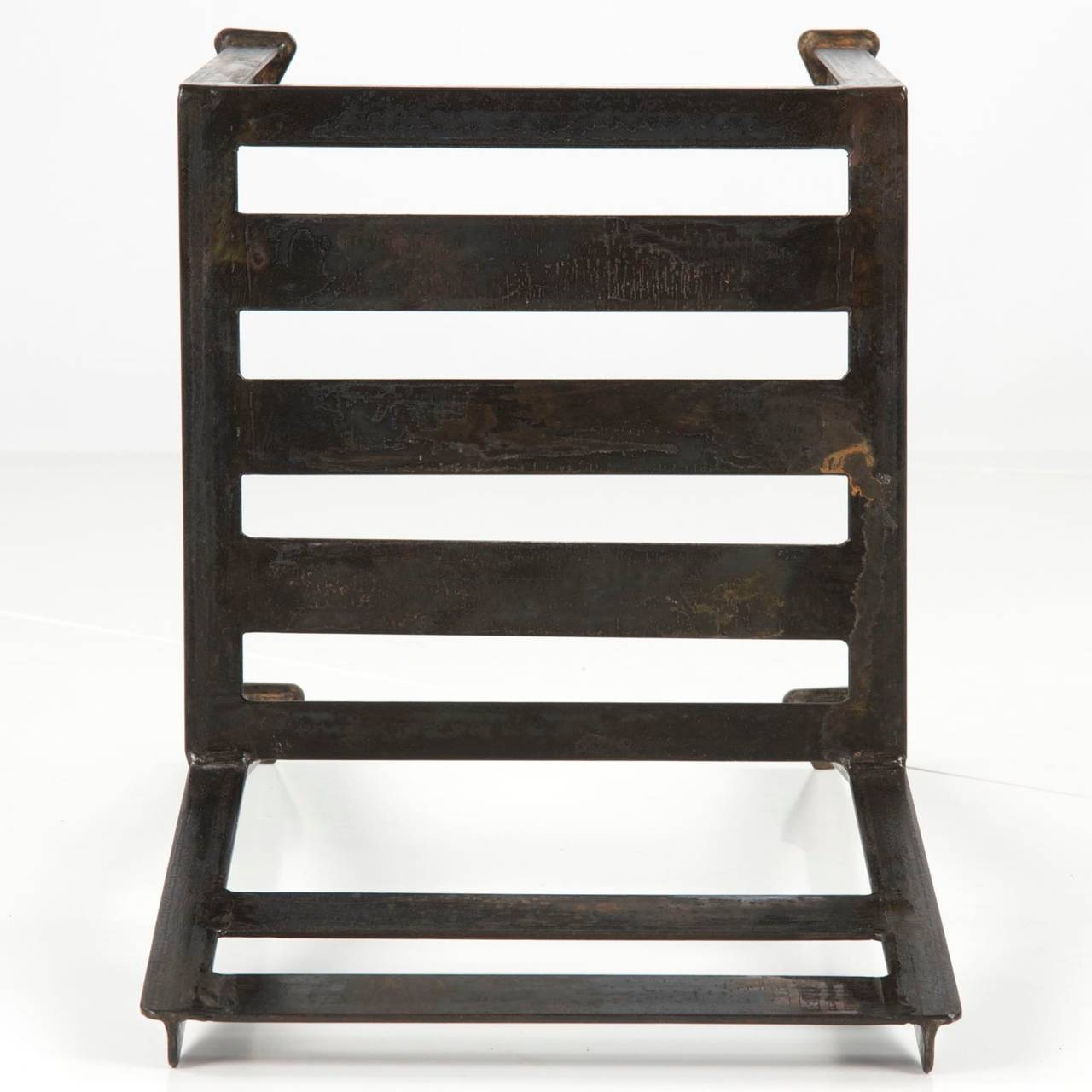 French Industrial Style Modern Welded And Patinated Side