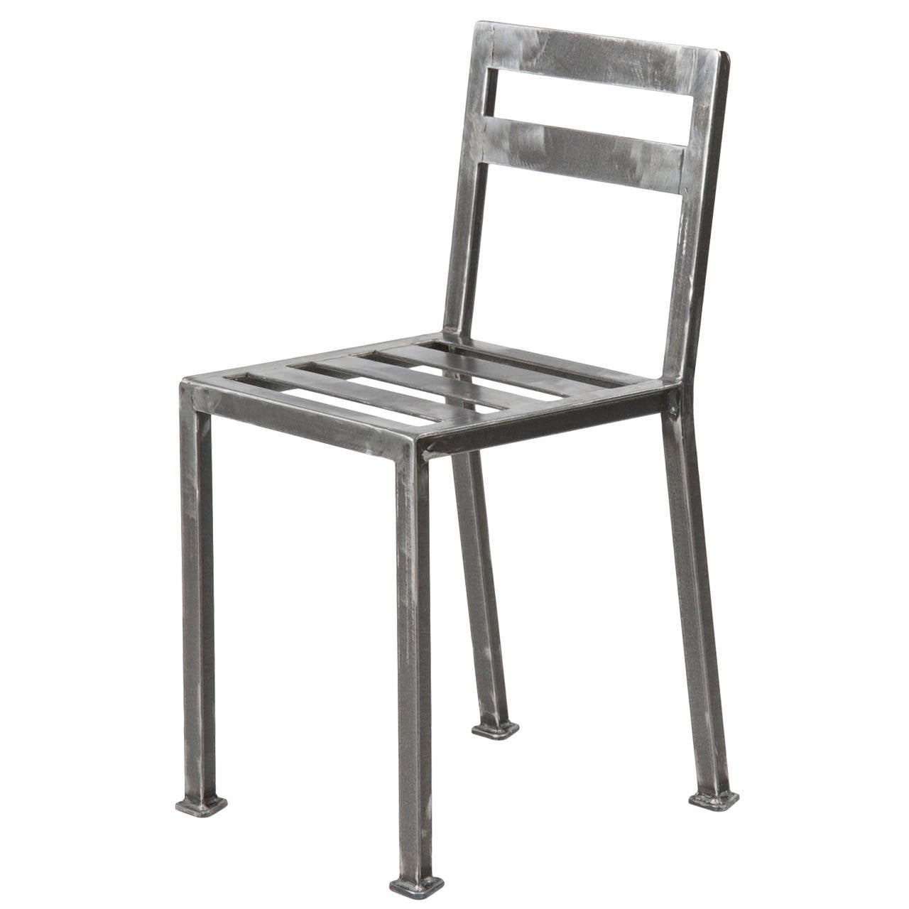 Industrial Style Welded Steel Minimalist Dining Side Chair