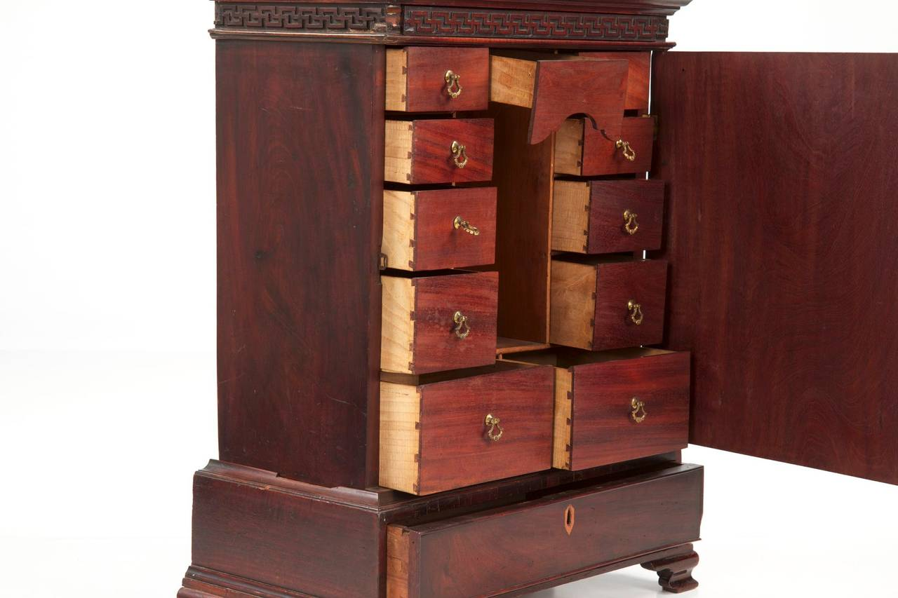 English chippendale mahogany miniature spice cabinet for Expressive kitchen cabinets