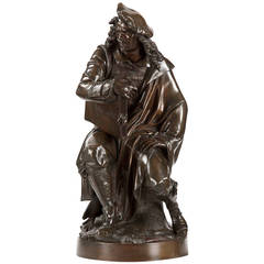 Albert Carrier-Belleuse Bronze Sculpture of Rembrandt