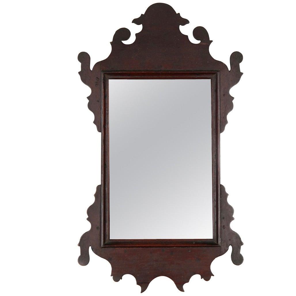 18th Century Rare Miniature Chippendale Mahogany Dressing Mirror