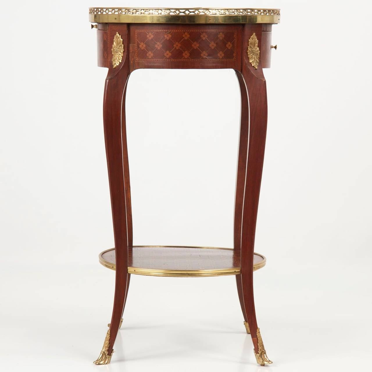French louis xv style parquetry and ormolu side table 19th century at 1stdibs - Table louis xv ...