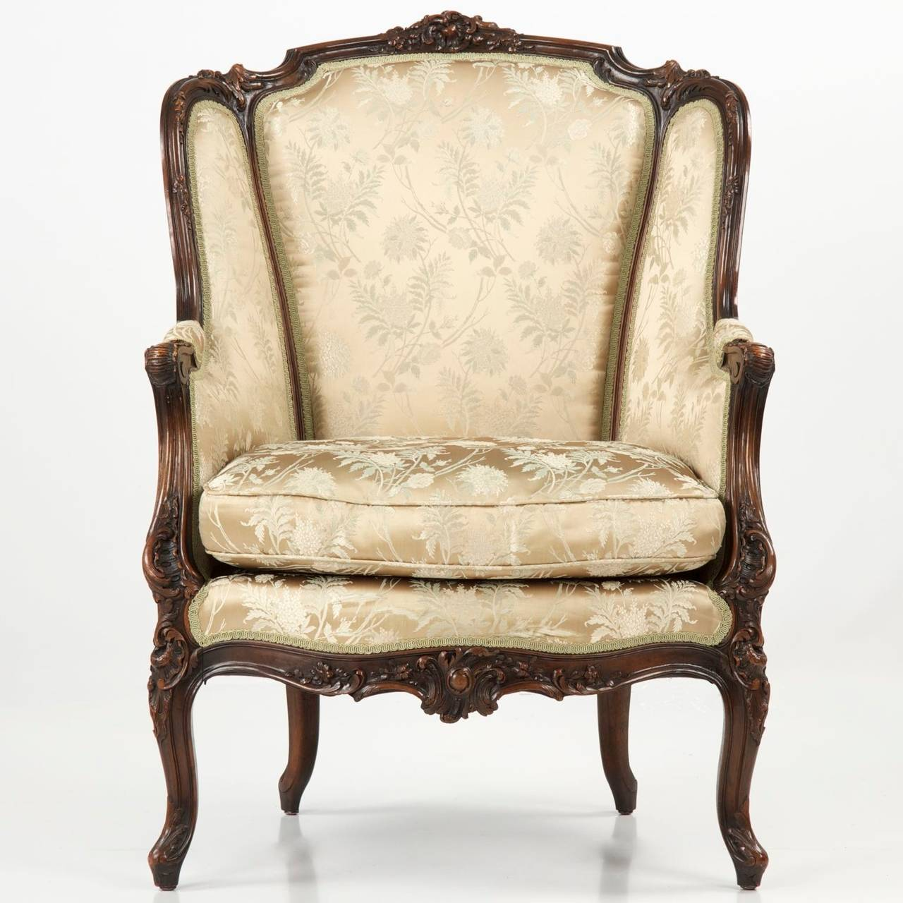 Antique bergere chair - 19th Century Rococo Revival Antique Bergere Armchair In Louis Xv Taste 2