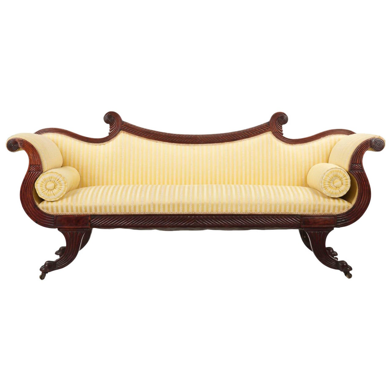 Fine English William Iv Mahogany Antique Sofa Circa 1830 1850 At 1stdibs