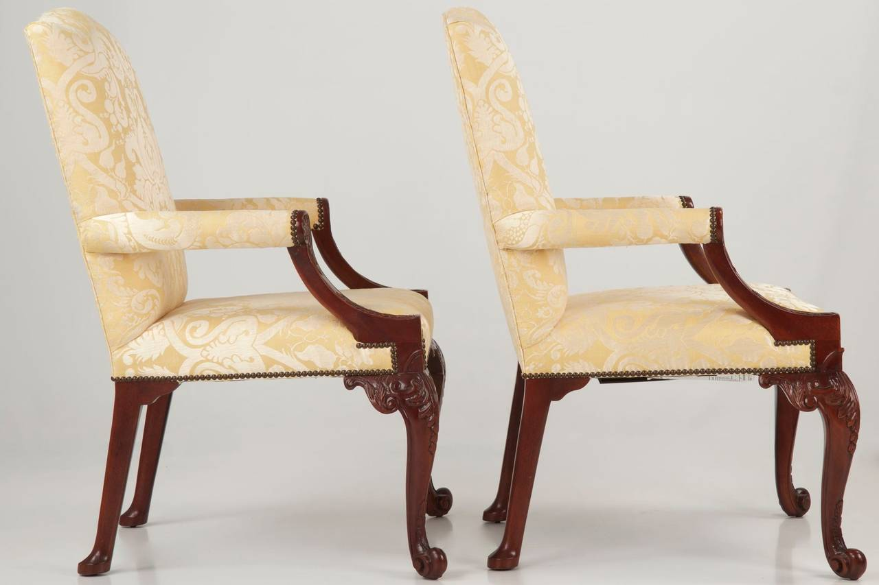 Pair of baker chippendale style gainsborough library for Affordable furniture in baker