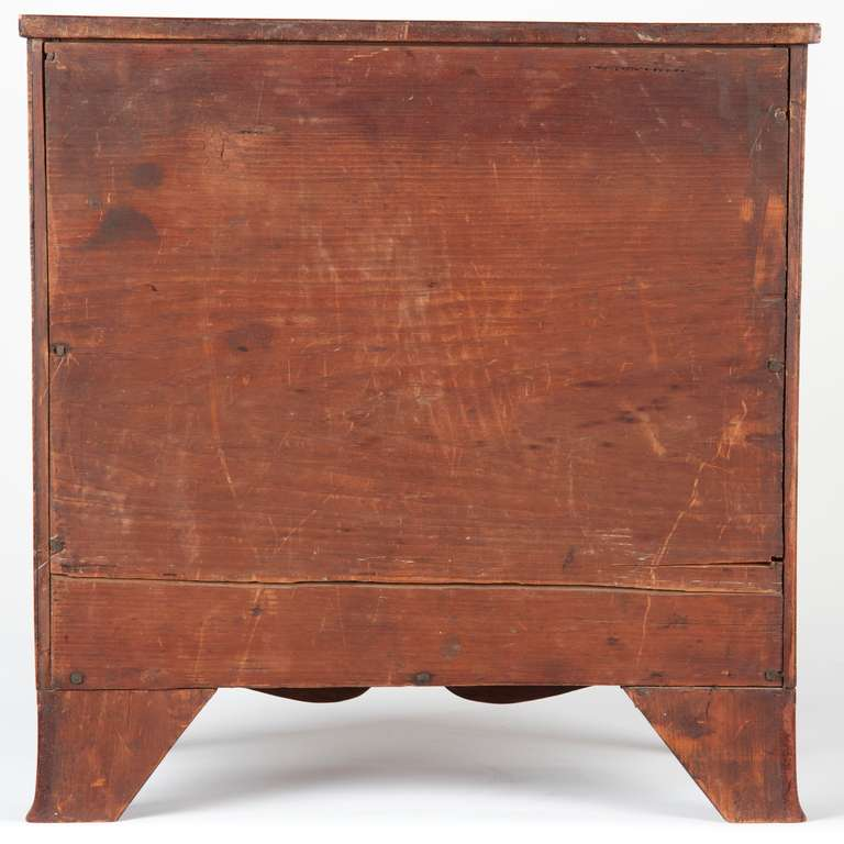 19th Century Miniature American Federal Salesman's Sample Chest of Drawers, circa 1800 For Sale