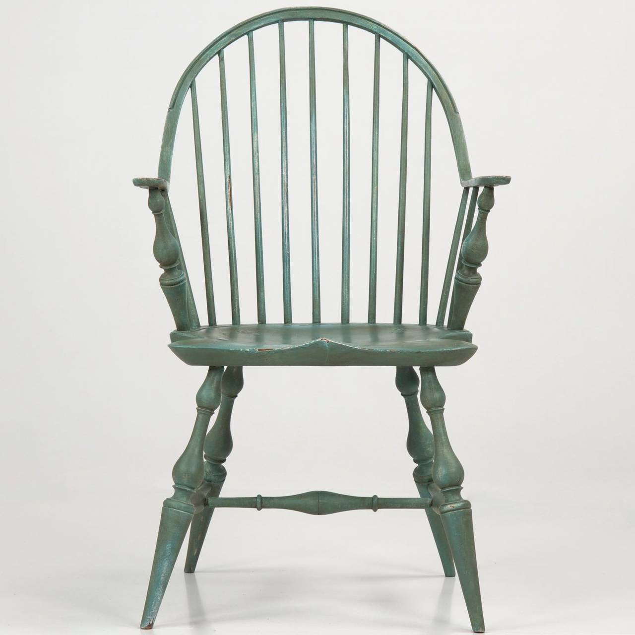 Genial American Continuous Arm Windsor Style Chair, 20th Century For Sale. This  Very Attractive Benchmade Reproduction Of The 18th Century New England  Originals Is ...