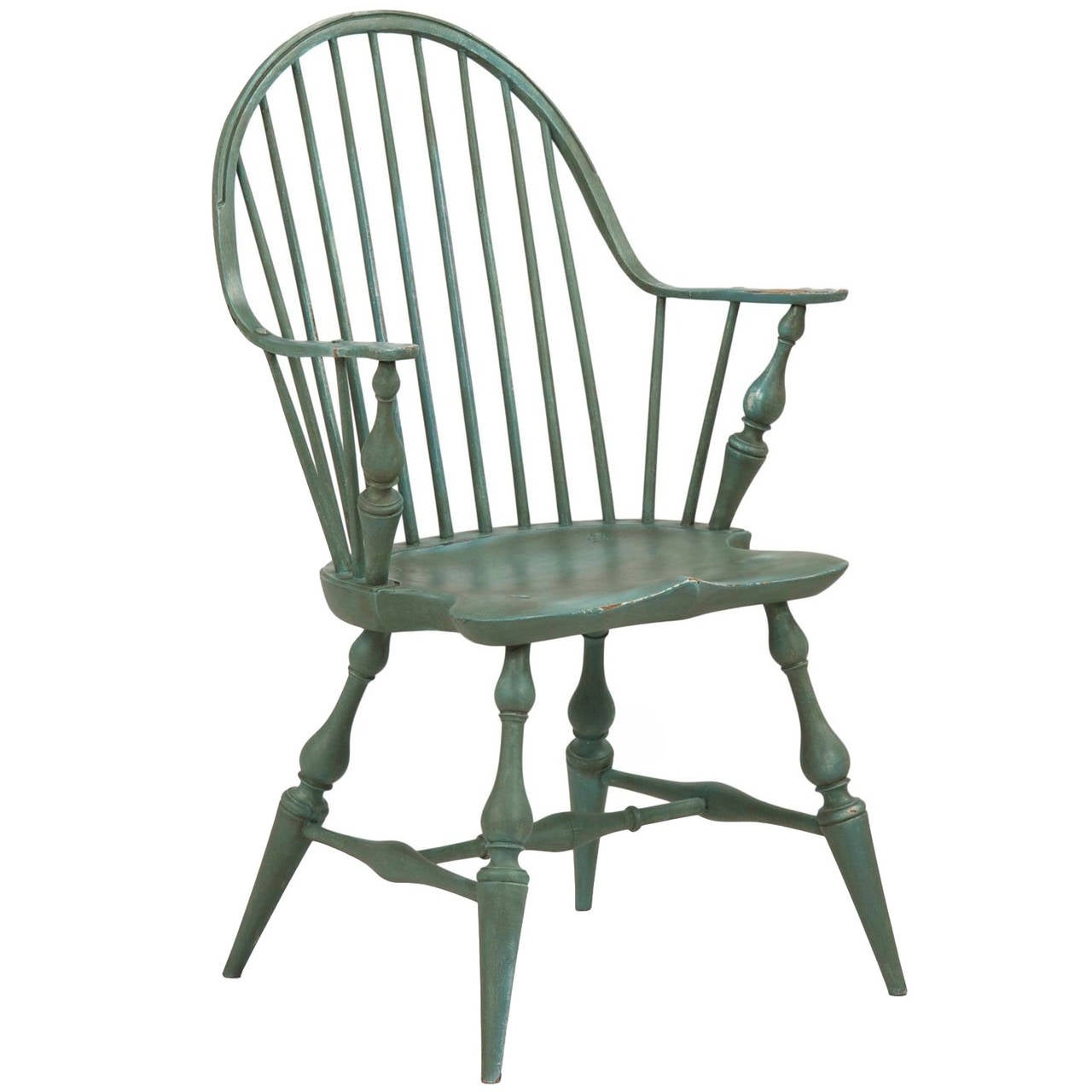 American windsor chair - American Continuous Arm Windsor Style Chair 20th Century 1