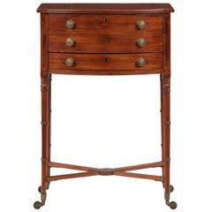 English Regency Inlaid Mahogany Antique Side Table, circa 1820