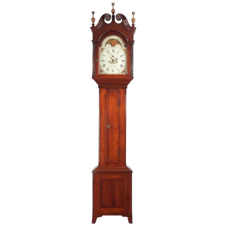 American Federal Tall Case Clock Benjamin Morris Bucks County