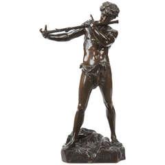 """Felix Charpentier Antique Bronze Sculpture """"L'Improvisateur"""""""