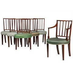 Set of Seven American Federal Dining Chairs, circa 1805-1815