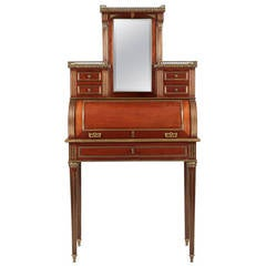 French Louis XVI Style Antique Cylinder Desk c. 1880-1910