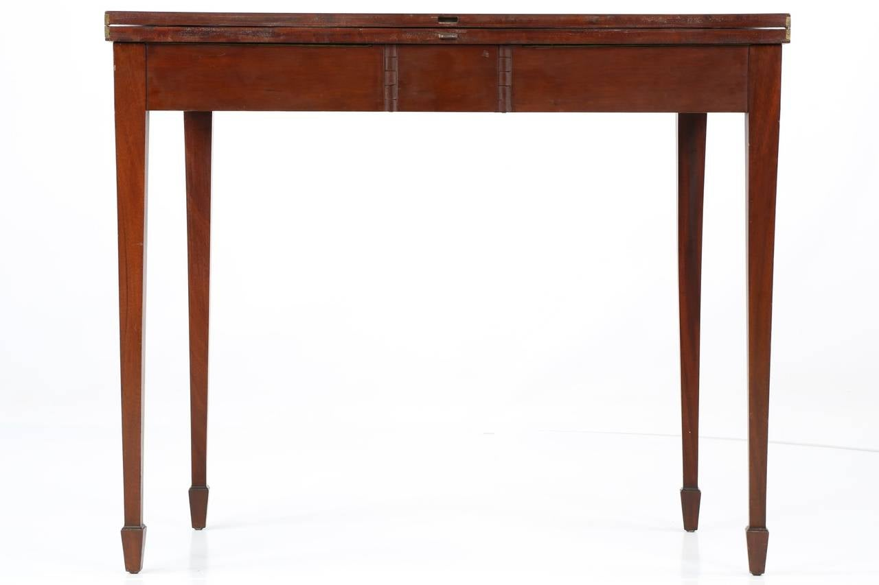 American Federal Style Inlaid Mahogany Antique Card Table Potthast Brothers At 1stdibs