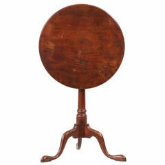 American Queen Anne Walnut Candle Stand, Pennsylvania, Late 18th Century