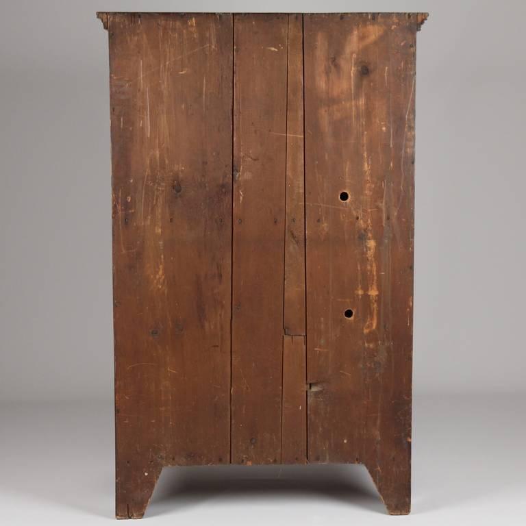 19th Century American Antique Scrubbed Pine Jelly Cupboard Cabinet, Pennsylvania, circa 1830