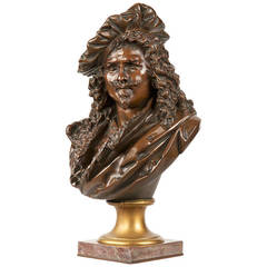Fine Bronze Bust of Rembrandt by Albert Carrier-Belleuse