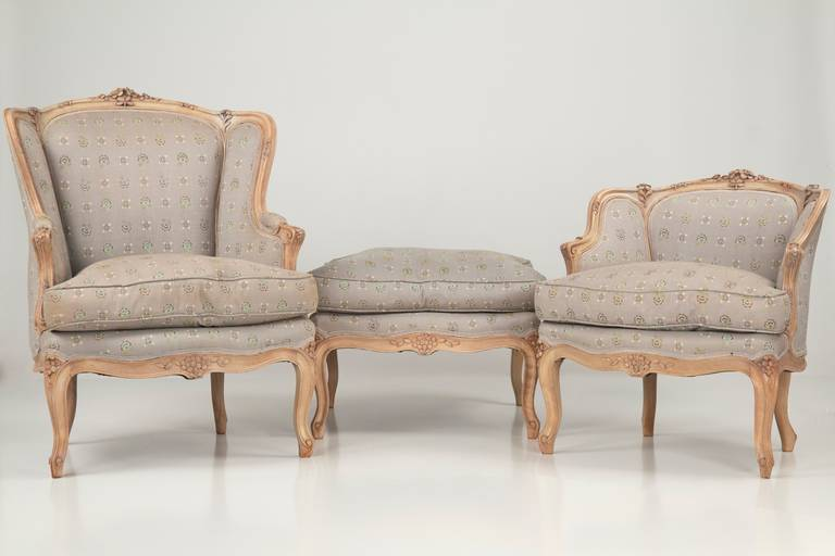 French louis xv style duchesse bris e antique chaises for Antique french chaise lounge