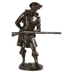 Albert Carrier-Belleuse Bronze Sculpture of Scottish Highlander