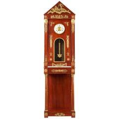 Fine Egyptian Revival Mahogany Tall Case Clock, Paris, circa 1910