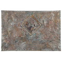 "Gladys Goldstein Modernism Mixed-Media Painting on Canvas, ""H2O"""