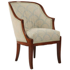 Continental Empire Klismo Antique Arm Chair, Early 19th Century