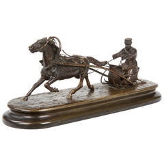 Bronze Equestrian Sculpture Group after a Model by Yakovlevich Grachev c. 1880
