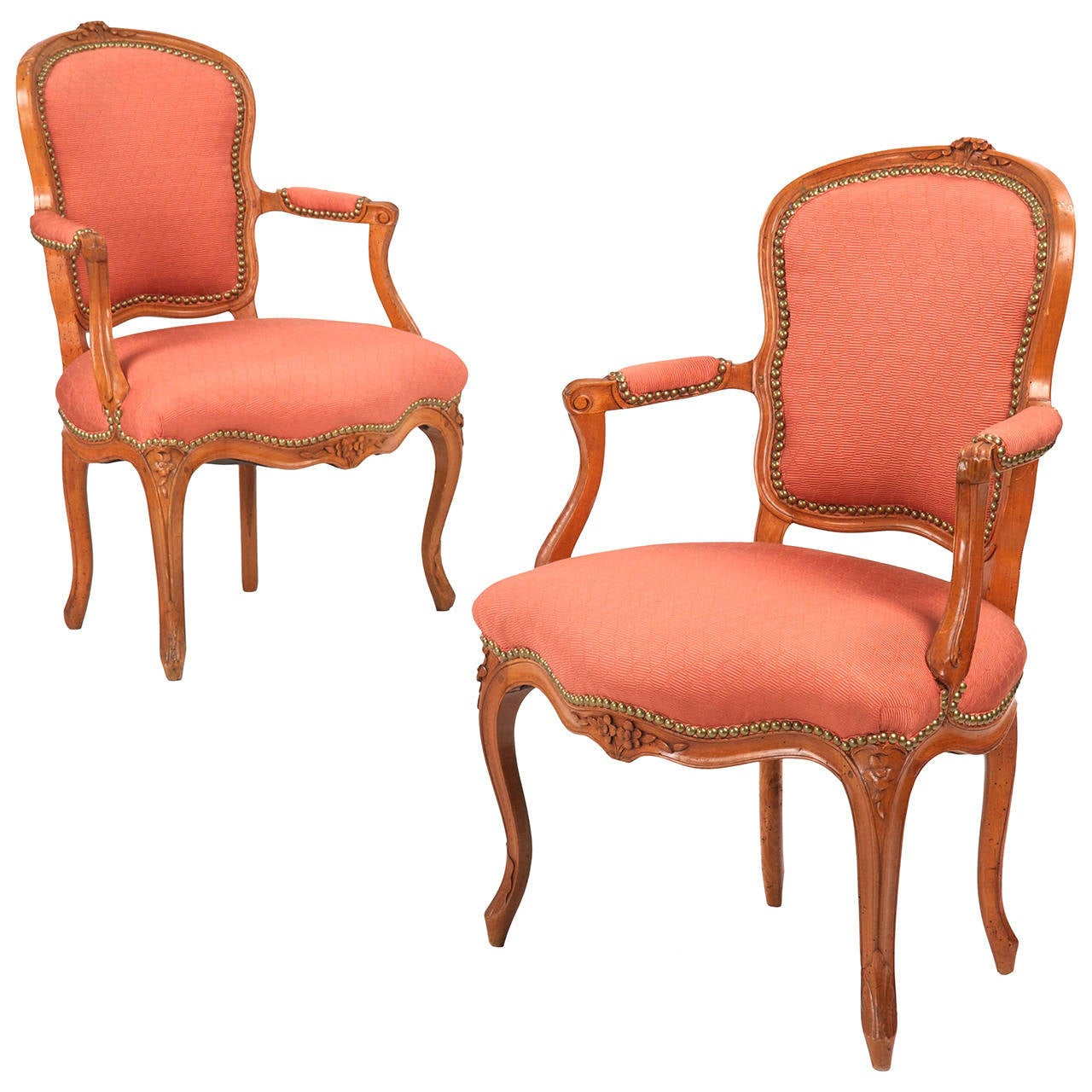 pair of french louis xv antique fauteuils arm chairs jean. Black Bedroom Furniture Sets. Home Design Ideas