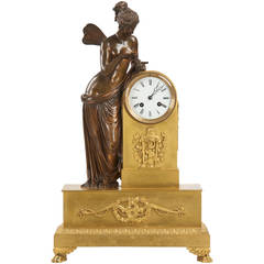 Fine Napoleon III Ormolu Bronze Figural Antique Mantel Clock of Psyche c. 1870