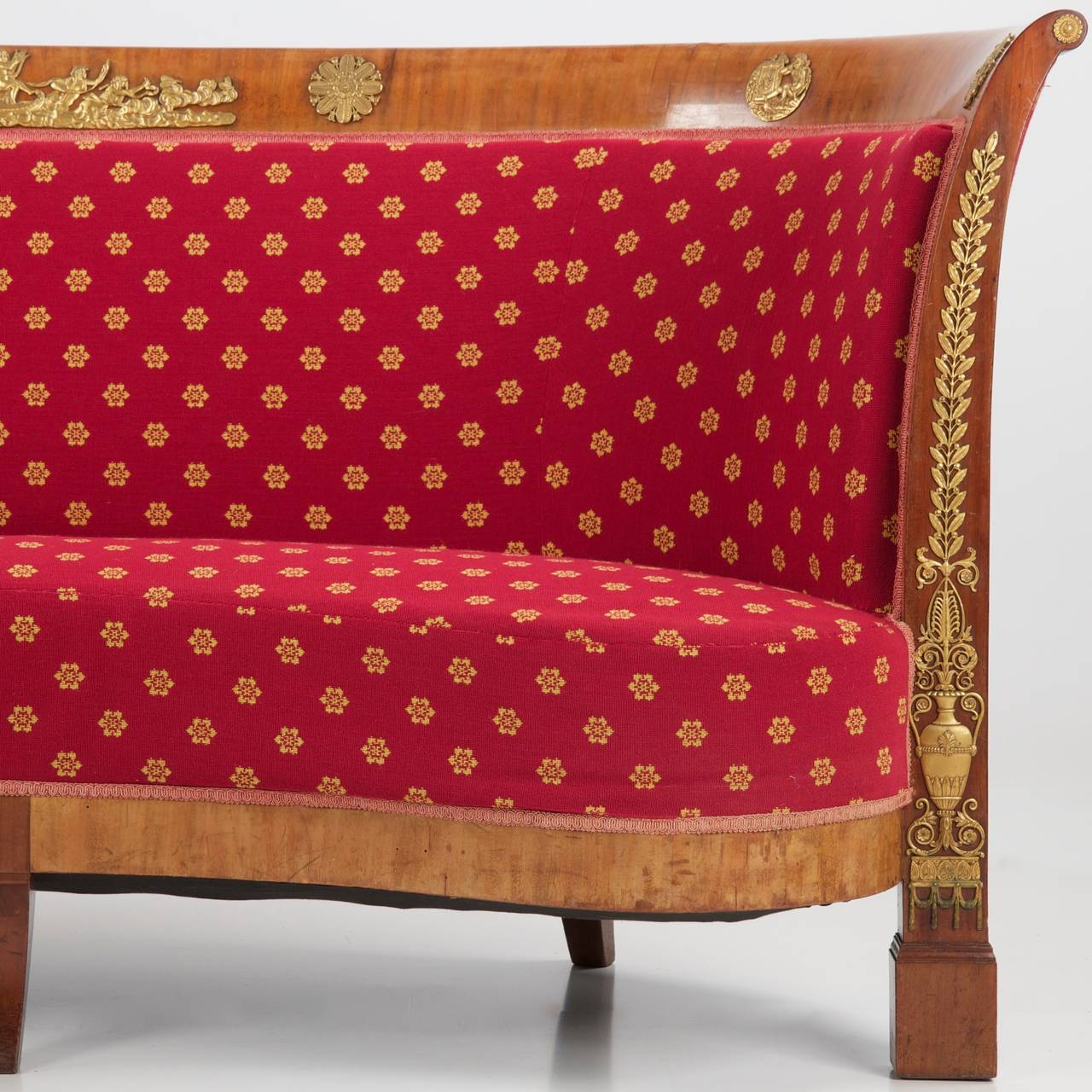 French napoleon iii mahogany antique sofa canap settee for French canape sofa
