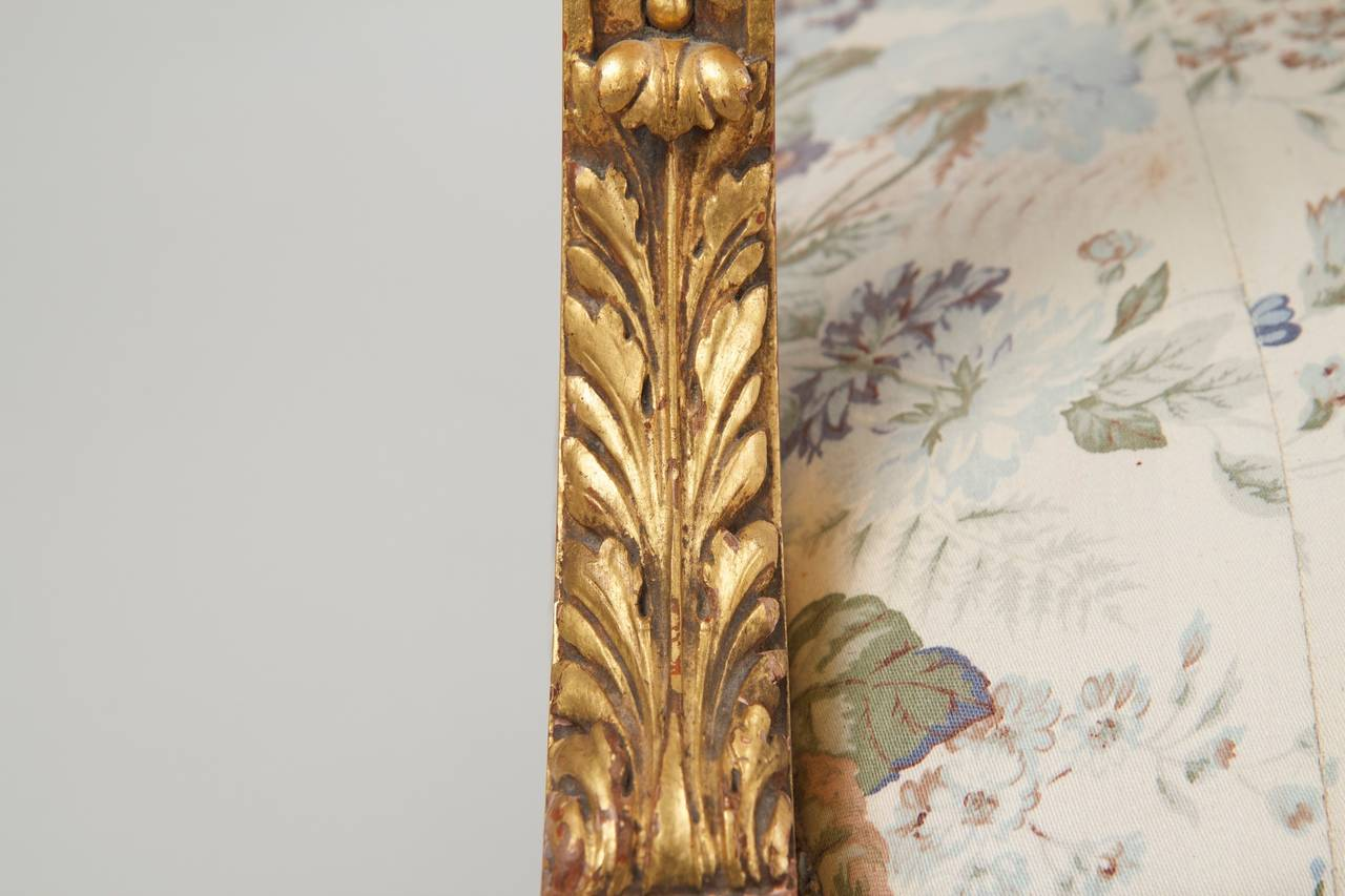 French Louis Xvi Style Giltwood Antique Settee Sofa Canape